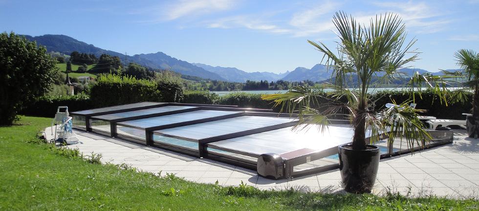 Abri de piscine europa piscines t lescopiques suisse for Abri de piscine suisse